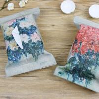 【包邮】 艺术家油画国画原创系列绘画作品艺术衍生品文艺创意厚实天然环保棉麻实用纸巾包抽纸包