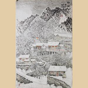 《瑞雪》山东美协会员、天津美院毕业、东方雪景画创始人李群臣【R808】