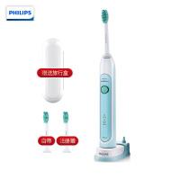 飞利浦(PHILIPS) 电动牙刷 HX6711/02 声波震动牙刷成人声波电动牙刷自动牙刷 两种清洁模式 配1支刷头