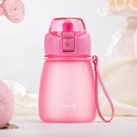 Bianli倍乐夏季塑料水杯儿童水瓶直饮杯子女士小学生便携小巧迷你水壶300ml 017323