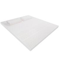 泰国皇家乳胶床垫子床褥子天然榻榻米1.8m床1.5m床 10cm (送2个乳胶枕) 二代负离子