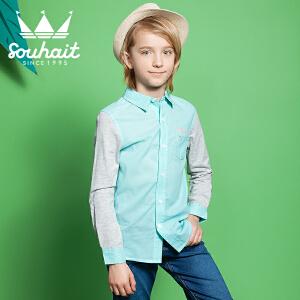 【3件3折 到手价:68.7元】水孩儿souhait男童儿童秋装童真时尚衬衫ASCCK502