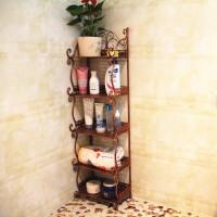 铁艺置物架卫生间浴室厨房角架厕所整理装饰架落地书架厨房收纳架