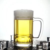 红兔子 400ml大容量玻璃把手啤酒杯扎啤杯水杯茶杯牛奶杯酒杯家用玻璃茶杯子