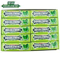 箭牌 绿箭口香糖 300g(15g×20条) 整盒 5片条装 办公休闲零食品