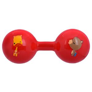 【当当自营】Fisher Price 费雪 新生儿哑铃球宝宝玩具手抓球婴儿球手柄球健身球锻炼手臂F0901红色
