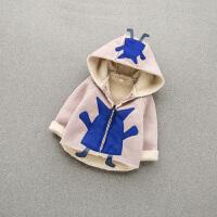 秋款童装男宝宝加绒棉衣外套0—1-3岁女小童婴儿保暖棉袄外衣潮