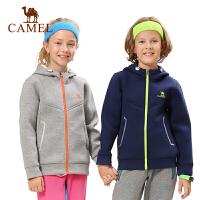 骆驼户外秋冬中大童户外舒适保暖防风连帽卫衣外套