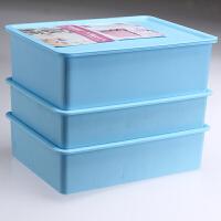 内衣收纳盒子三件套有盖分格抽屉式塑料内裤袜子整理箱