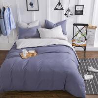 商场同款ins网红四件套床上用品色磨毛大学生宿舍三件套床笠床单人被套