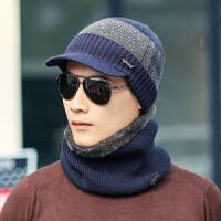 帽子男针织帽加绒时尚套头帽男士毛线帽子冬季护耳冬天韩版潮