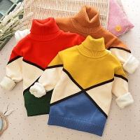 儿童毛衣男童套头秋款加绒加厚季高领2017新款宝宝保暖打底衫