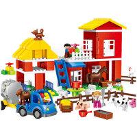 六一儿童节礼物积木儿童早教益智农场拼插拼装1宝宝2玩具3-6周岁