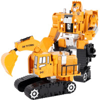 合金变形金刚机器人模型儿童玩具礼盒套装工程车挖掘机男孩玩具车