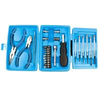 25件迷你手动维修小工具箱五金家用工具套装礼品工具 颜色随机