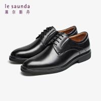 莱尔斯丹 男鞋时尚商务正装职场圆头系带低跟男单鞋德比鞋皮鞋LS ATM53003