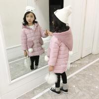 女童棉衣01新款季中长款韩版外套儿童装棉袄公主加厚羽绒