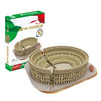 3d立体拼图建筑模型罗马斗兽场纸质儿童拼装玩具手工DIY