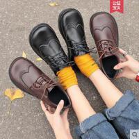 平底百搭日系新款chic女鞋英伦风复古小皮鞋软妹学生单鞋