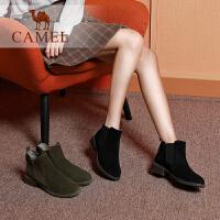 camel骆驼女鞋冬季新款女粗跟时尚简约切尔西靴休闲日常百搭女短靴