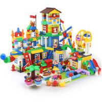 积木玩具拼装大颗粒1-2-4女孩3-6周岁男孩子儿童益智城市