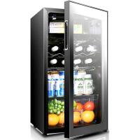 JC-96 冰吧冰箱红酒柜恒温酒柜家用展示冷藏小冰柜 黑色