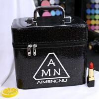 女化妆包大容量小号便携韩国简约可爱少女收纳盒品大号化妆箱手提