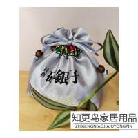 小青柑包装袋 普洱茶碎银子布袋 茶化石布袋 小青柑布袋沱茶老茶头包装袋礼品袋 金色180g双层茶化石袋