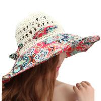 遮阳帽防紫外线帽子大沿草帽可折叠夏天太阳帽女防晒沙滩帽