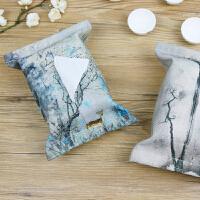 【包邮】艺术文艺创意厚实天然环保棉麻纸巾包抽纸包