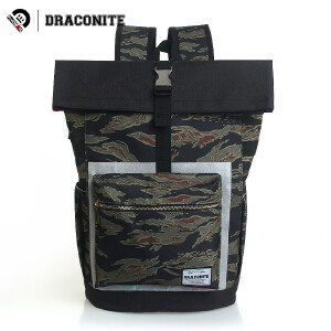 【支持礼品卡支付】DRACONITE潮牌双肩包男个性复古迷彩撞色休闲书包电脑包背包11673