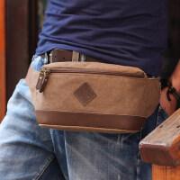 户外腰包 男士帆布小包挎包韩版潮包 手机运动包