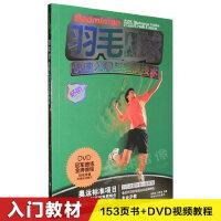 �W打羽毛球基�A入�T���鸺夹g��教�W��l教程教材��DVD光�P碟片