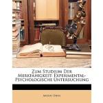 【预订】Zum Studium Der Merkfhigkeit: Experimental-Psychologisc