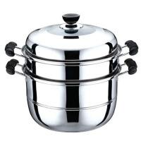家用时尚蒸锅不锈钢蒸屉蒸笼商用汤锅蒸煮锅电磁炉通用