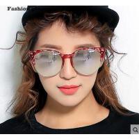个性时尚大框太阳镜 大框圆形复古半框墨镜潮 潮人眼镜简约舒适 男女情侣眼镜