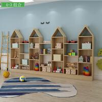 实木书架组合置物架多功能小书架简约现代学生储物柜书柜书架 0.6米以下宽