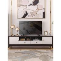 美式后现代轻奢电视柜茶几组合家具客厅套装实木家具电视机高柜 整装