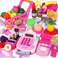 儿童超市收银机玩具 收银台过家家仿真购物车套装3-6周岁女童女孩