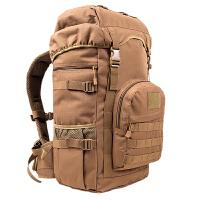 户外登山包50L男女双肩包旅行大容量背包男特种兵背囊虎斑特战包 卡其色 50L 带魔术贴