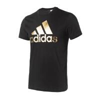 Adidas阿迪达斯 男装 2018新款运动休闲圆领透气短袖T恤 CV4507