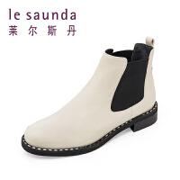 【全场3折】莱尔斯丹 秋冬专柜款切尔西靴短筒女靴 8T37406