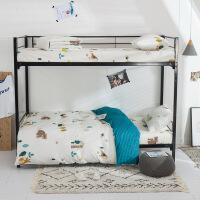 床单三件套全棉纯棉学生宿舍单人1.2m上下铺被子床上用品床褥套装