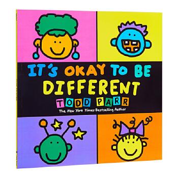 【中商原版】托德帕尔:异同书 英文原版 英文版 It's Okay to be Different 儿童读物