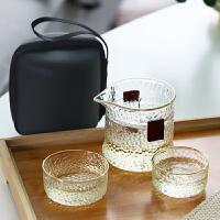 光一玻璃旅行茶具套装便携包快客旅行随身杯泡茶壶日式简易功夫茶杯