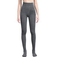 春秋冬季女士连裤袜瘦腿美腿打底袜棉中厚长款浅灰色加裆连体袜子