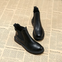 欧洲站2018秋冬季新款女鞋英伦风平底圆头短筒马丁靴潮女黑色短靴