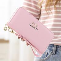 长款钱包时尚拉链手机包女士学生韩版手抓拿包品牌皮夹包女零钱包