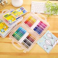 新品得力油画棒幼儿蜡笔儿童蜡笔美术绘画用品学生涂鸦笔送填色卡