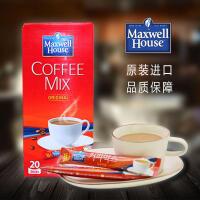 【包邮】韩国进口 东西麦斯威尔进口三合一速溶咖啡粉 冲饮饮品饮料 11.8g*20袋 一盒